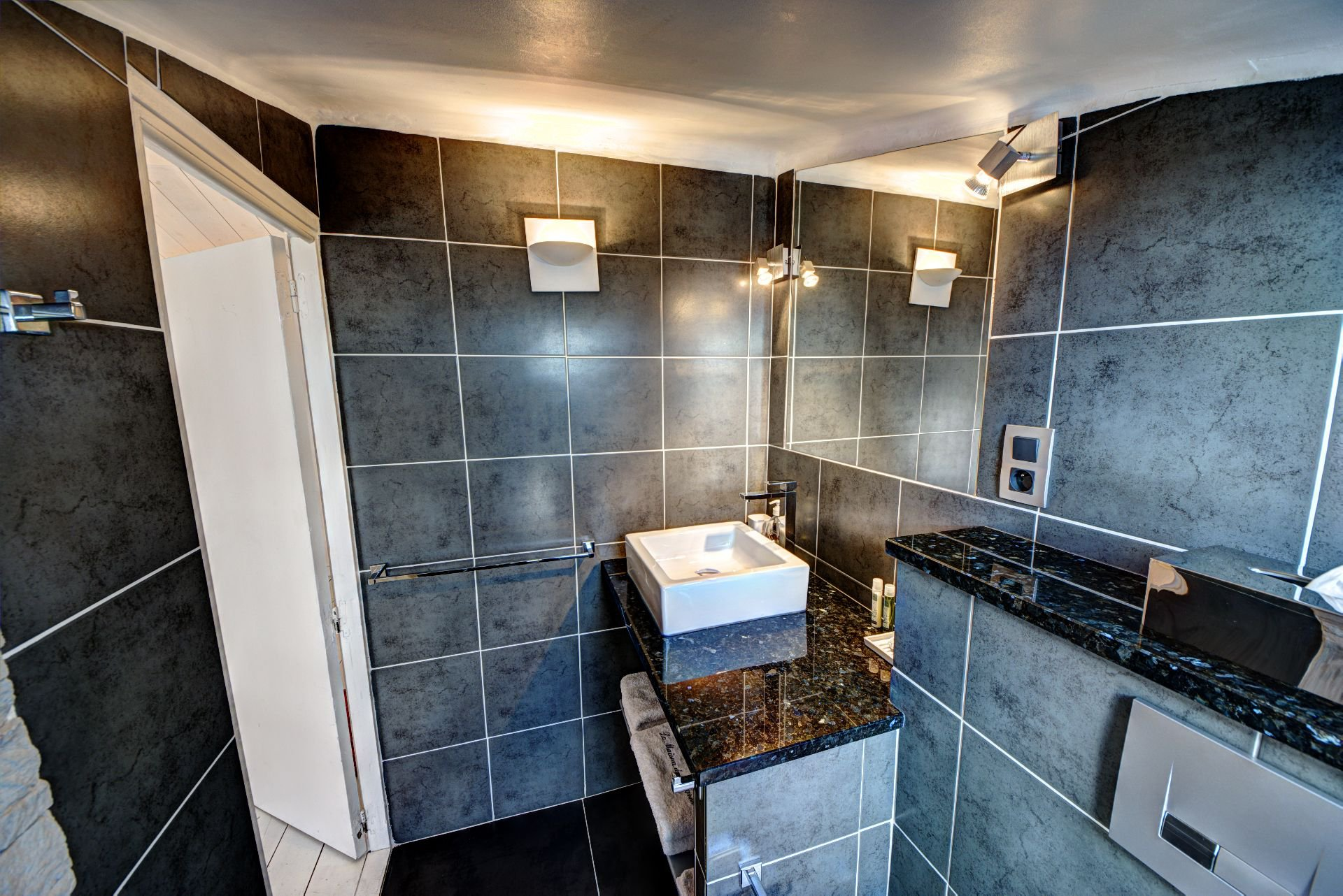 Bathroom Suite 2 of the guest house with garden and pool Rocbaron, Var, Provence