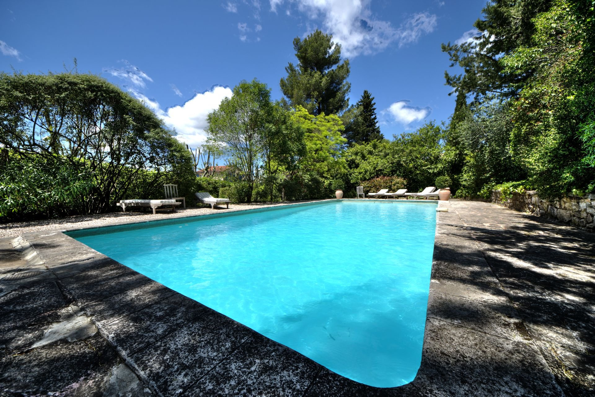 The pool of the guest house with garden and pool Rocbaron, Var, Provence