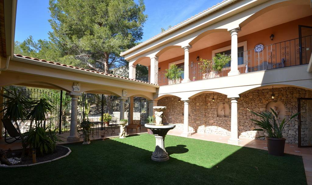 A luxury mansion with pool, sauna, patio interior (hacienda type)