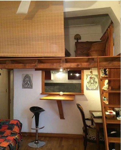 VIeil Antibes studio avec mezzanine loué d'Octobre à Fin Avril