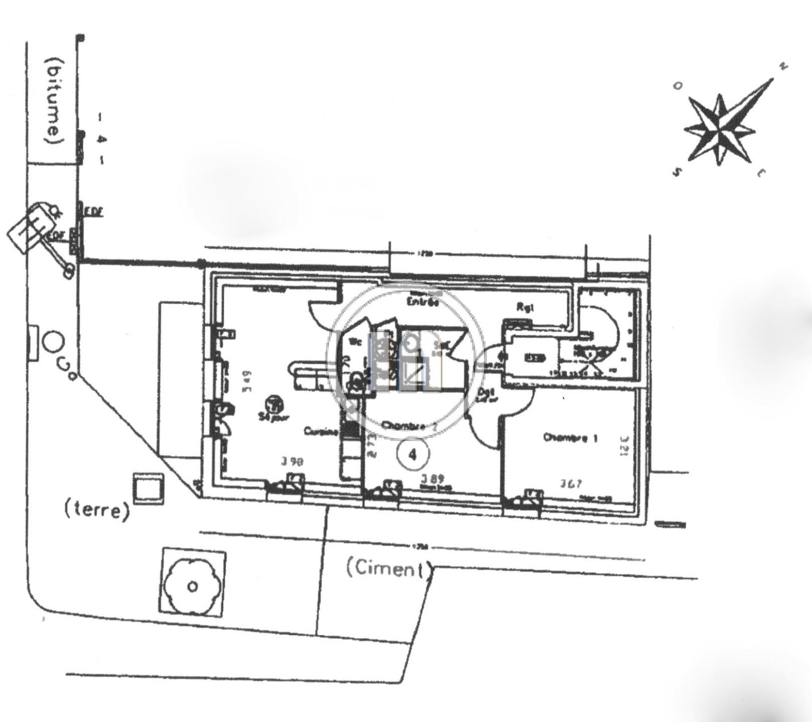 Beau 3 pièces avec 2 chambres, une cave