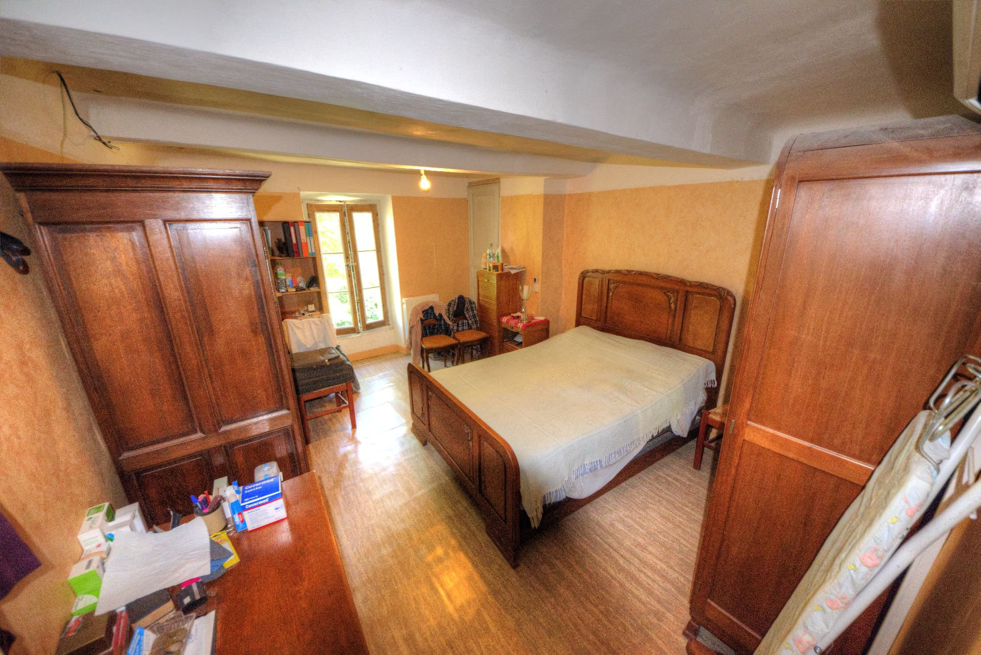 large bedroom in an old house Villecroze