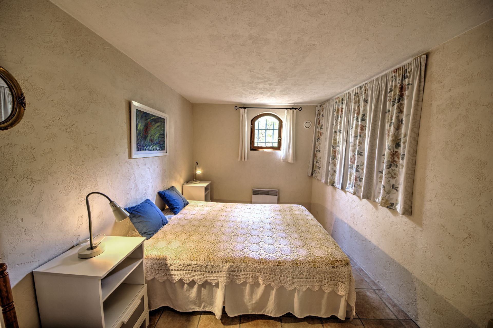 bedroom ground garden Beautiful villa of 180 sqm, three bedrooms, swimming pool, on 4000 m² closed, Tourtour, Var, Provence