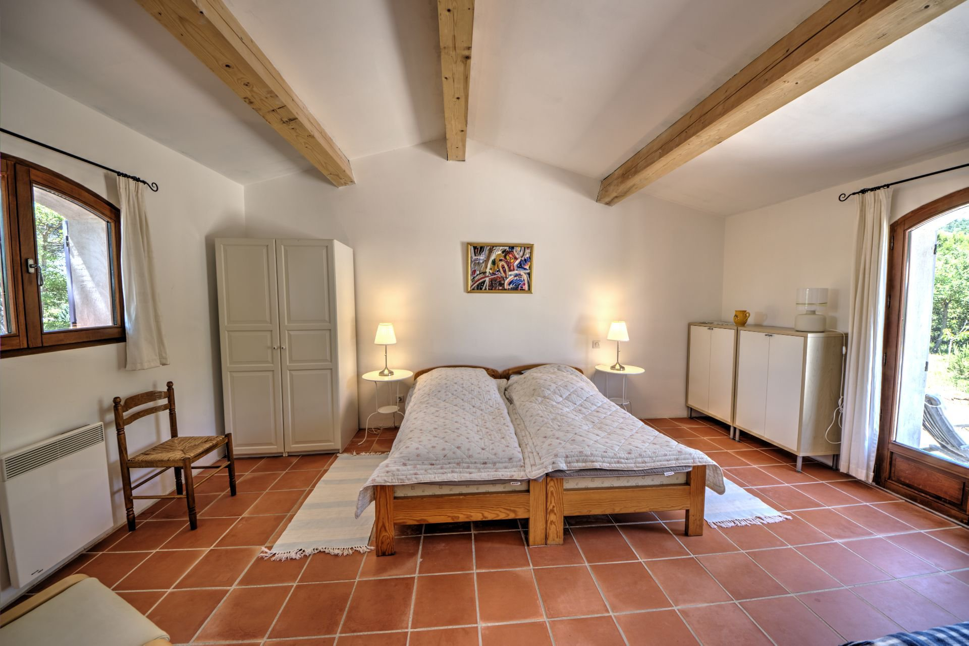 1 bedroom Beautiful villa of 180 sqm, three bedrooms, swimming pool, on 4000 m² closed, Tourtour, Var, Provence
