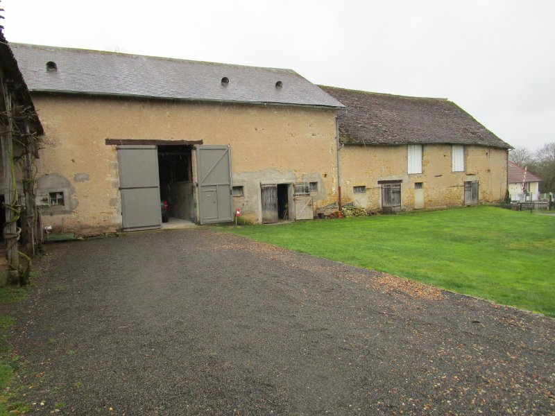 For sale large character house on a plot of land in Burgundy