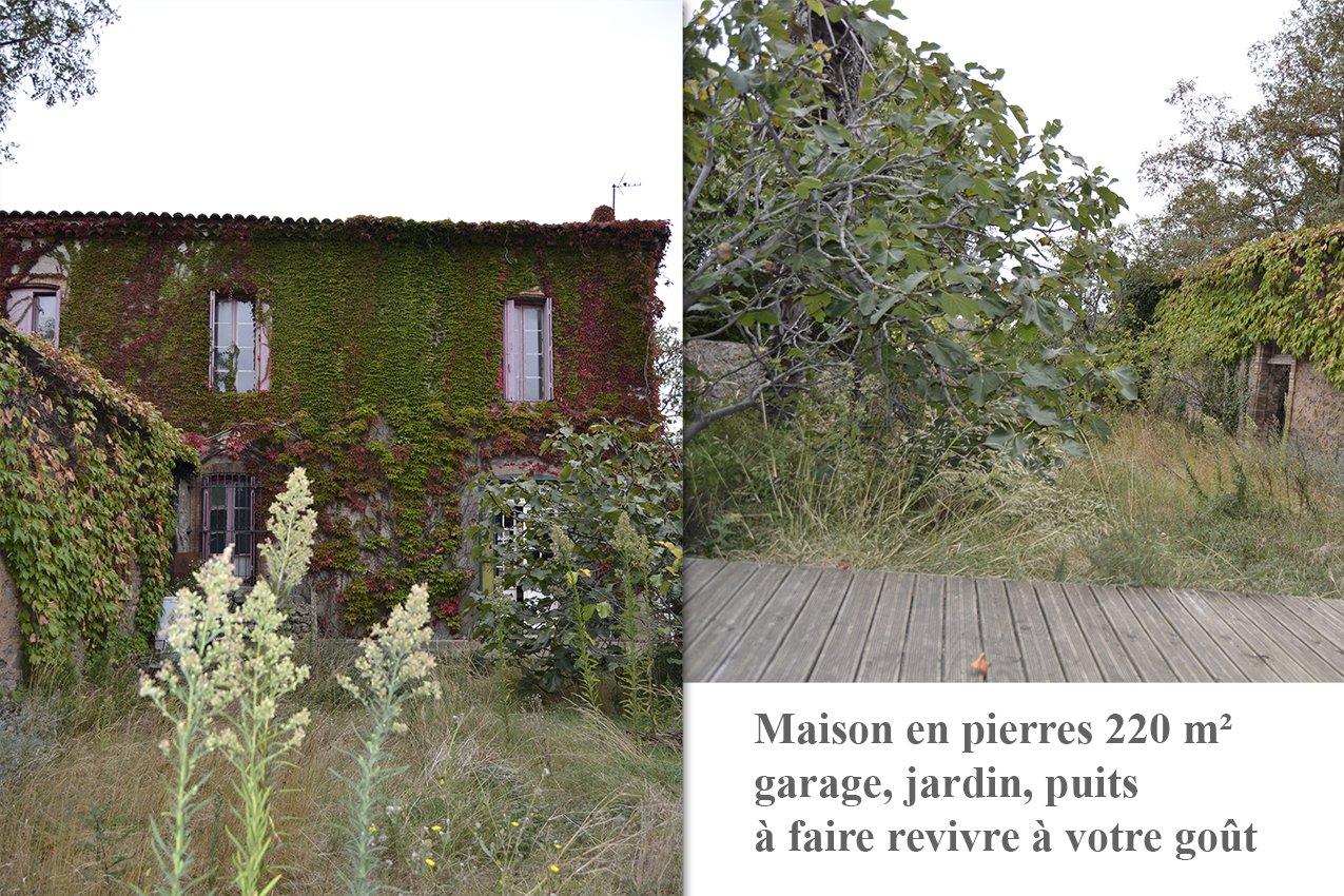 Maison vigneronne T8, 4 faces. Terrain, remise.