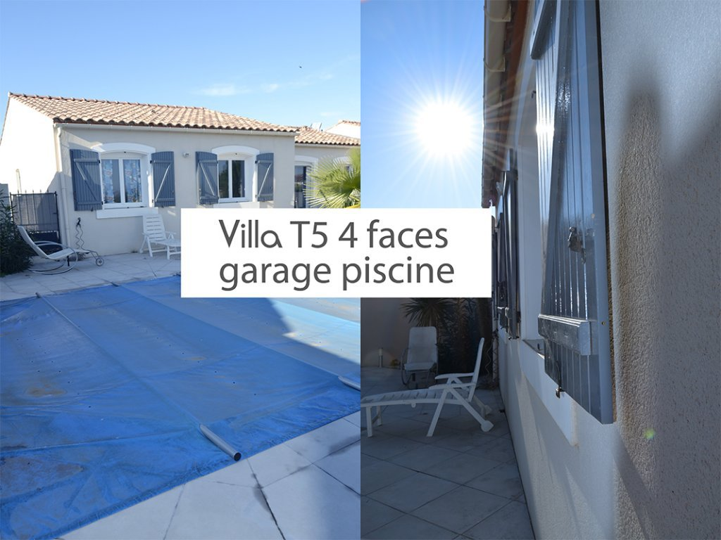 Villa T5 4 faces, garage, swimming pool