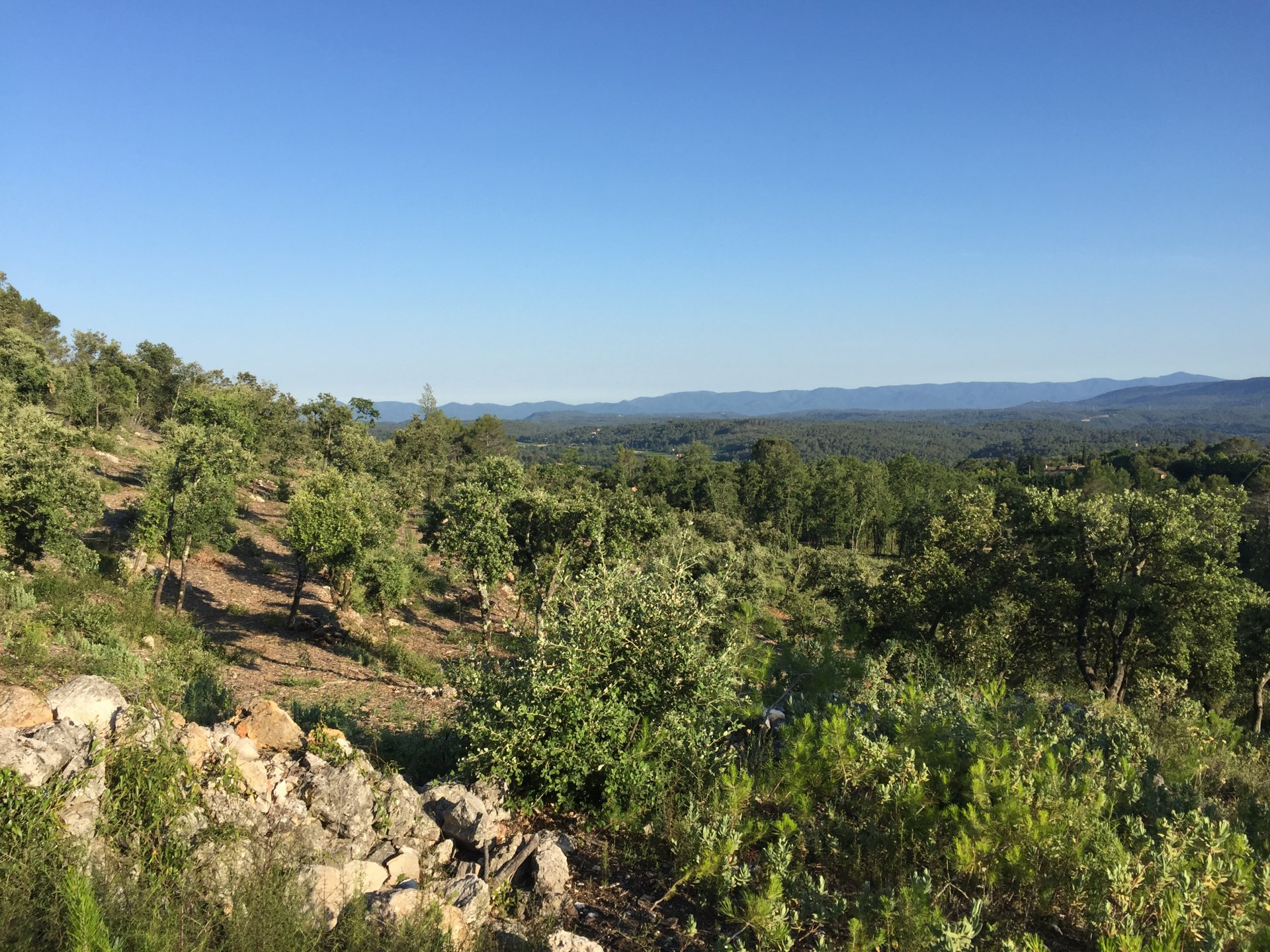 Beautiful plot with panoramic view in Lorgues