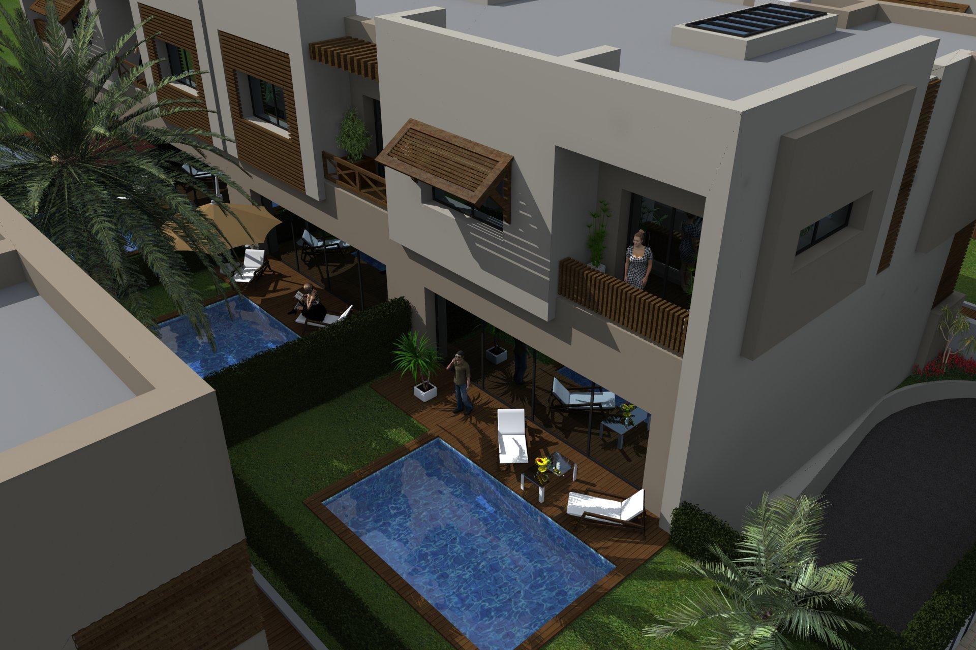 A vendre un duplex avec piscine à la soukra
