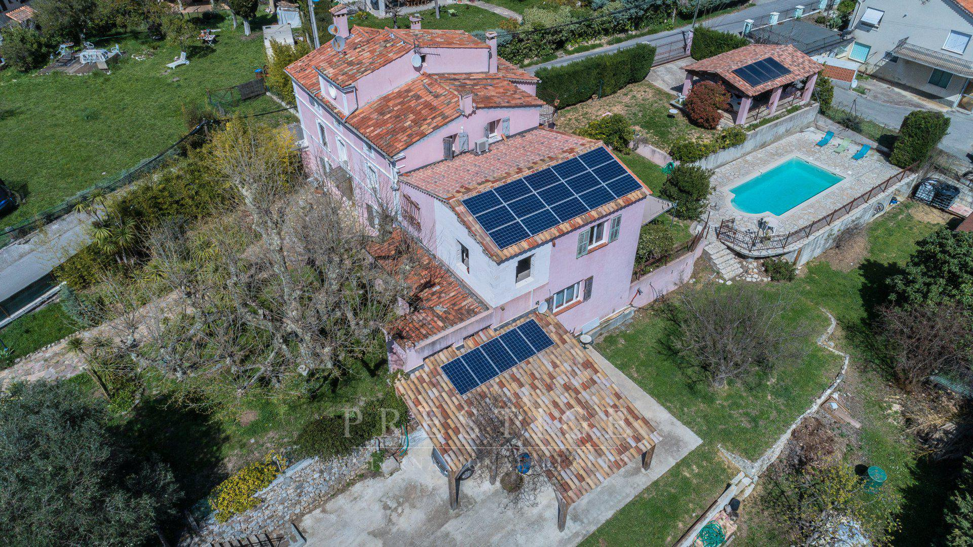 Pégomas, villa 400m² piscine, maison d'hôtes