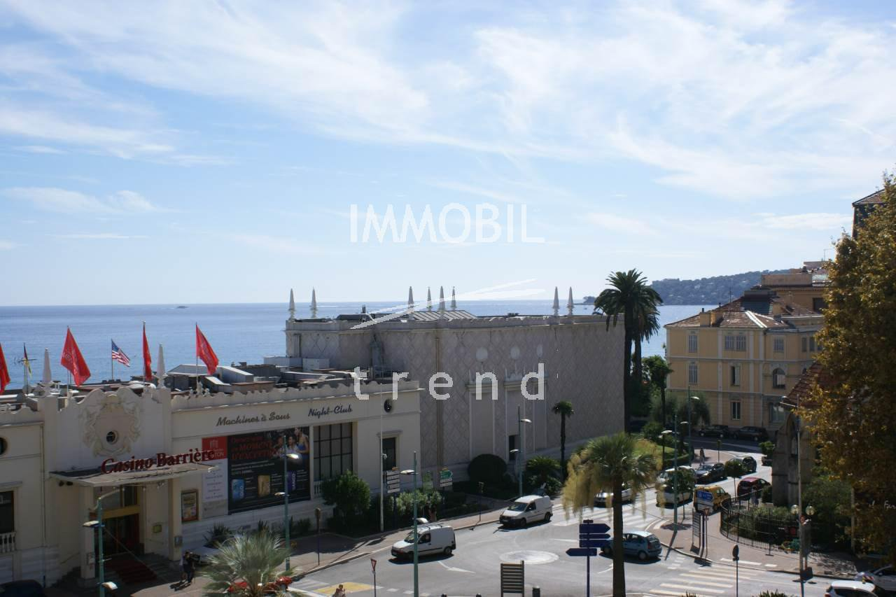 Immobilier Menton centre 3 pieces, vue mer.