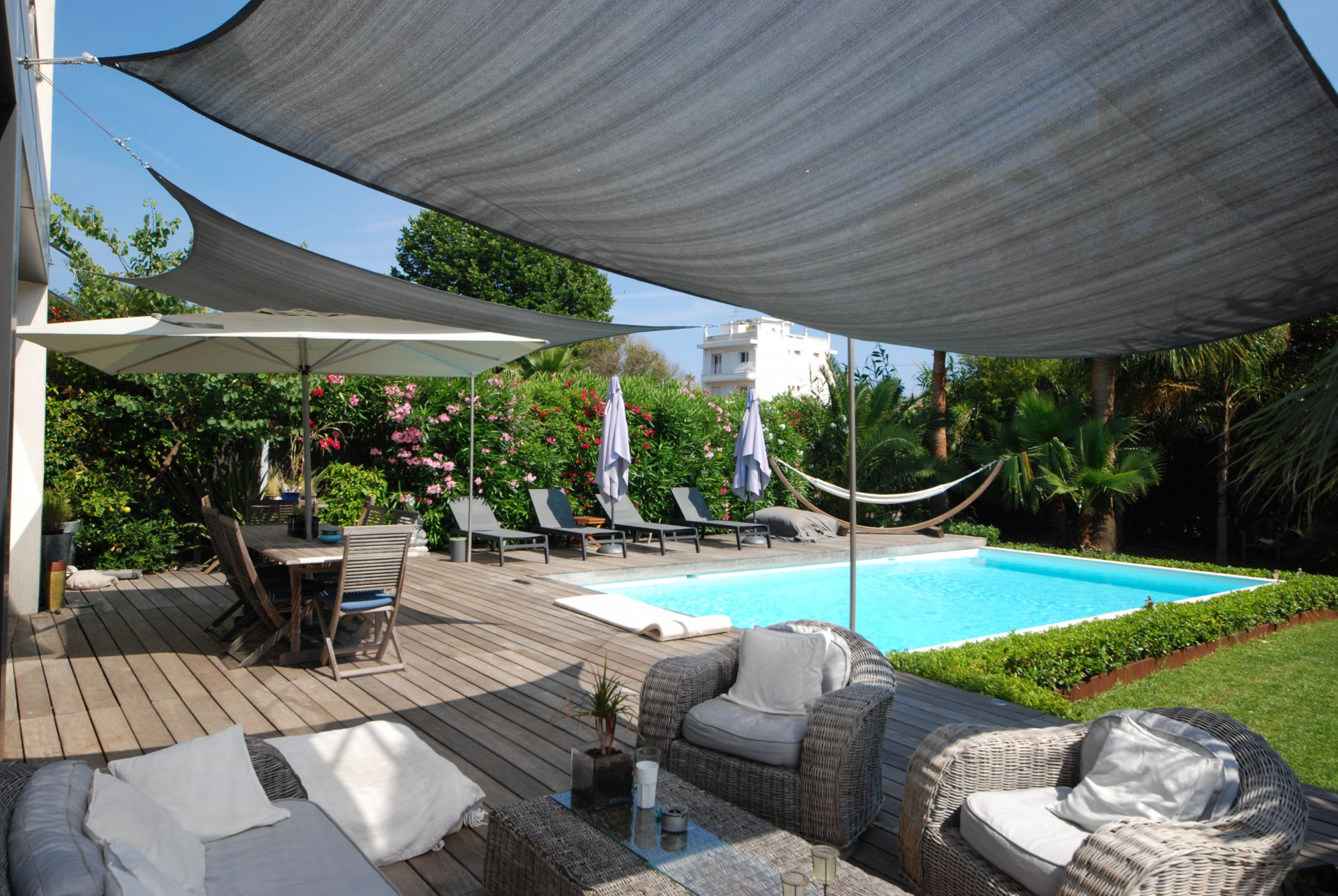 location congrès maison  4 chambres piscine et jardin proche centre de Cannes