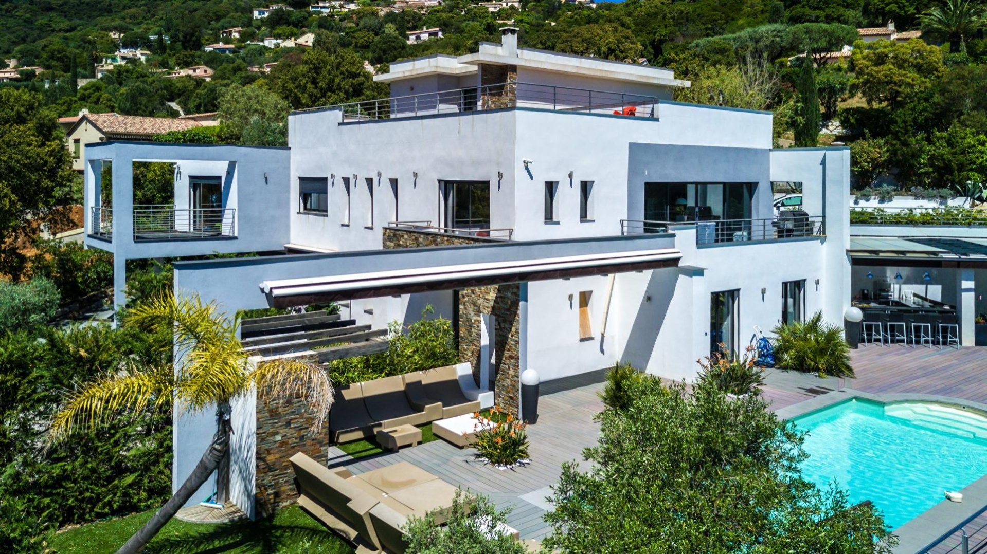 Contemporary house with sea view Cavalaire sur Mer Var Provence
