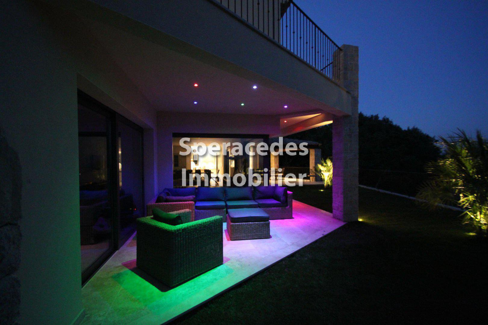 Terrace with lights