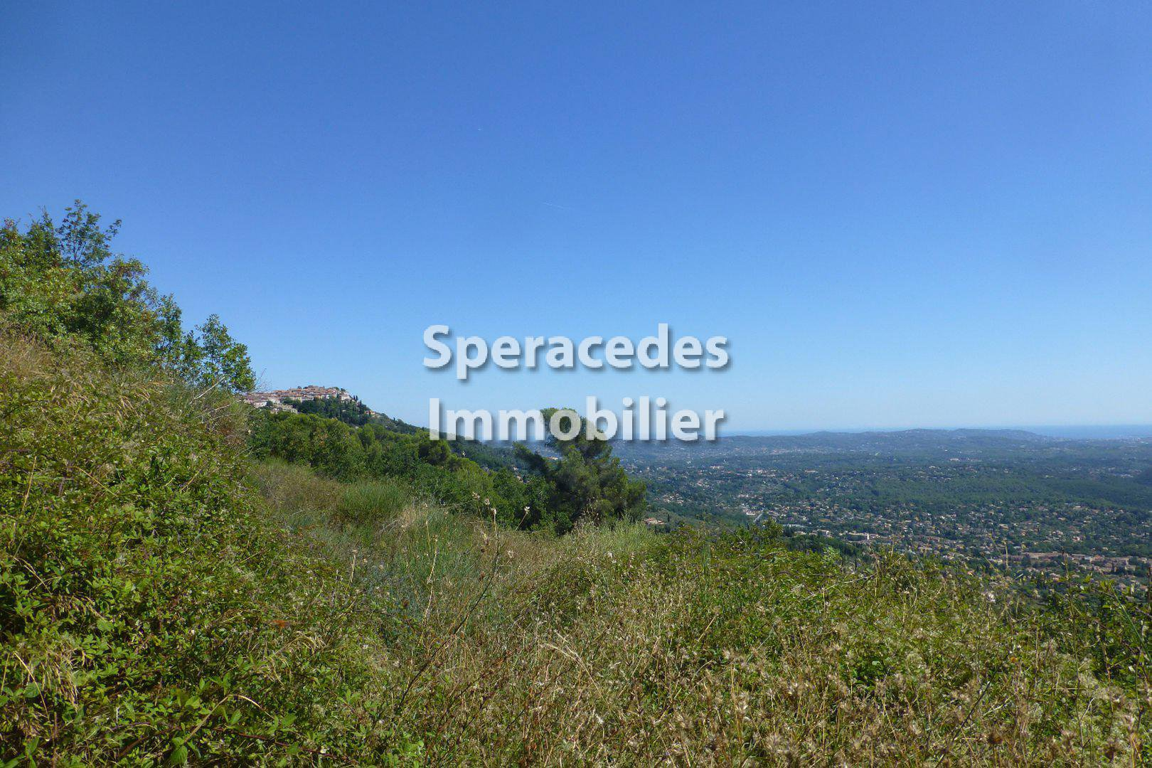 Speracedes building plot with panoramic sea view