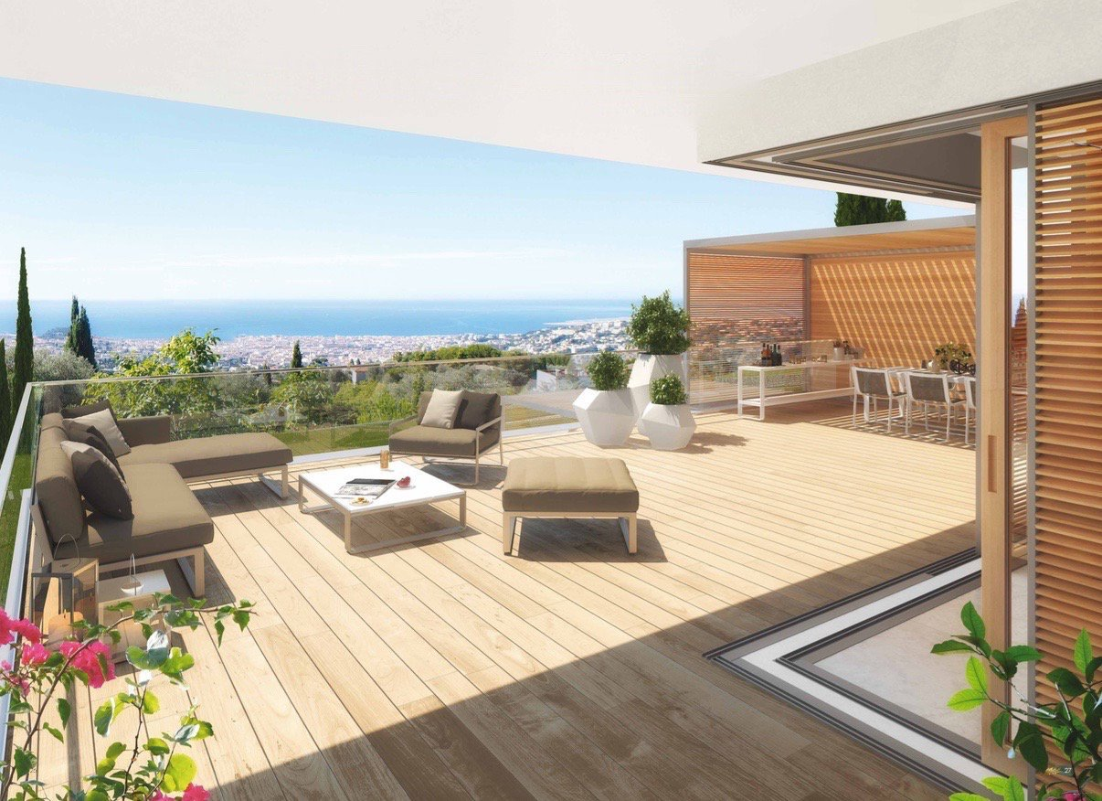 NICE - French Riviera - luxury 3 bed Apartment with sea view