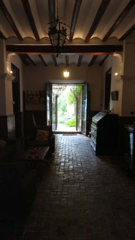 Large and typical village house with private patio/garden