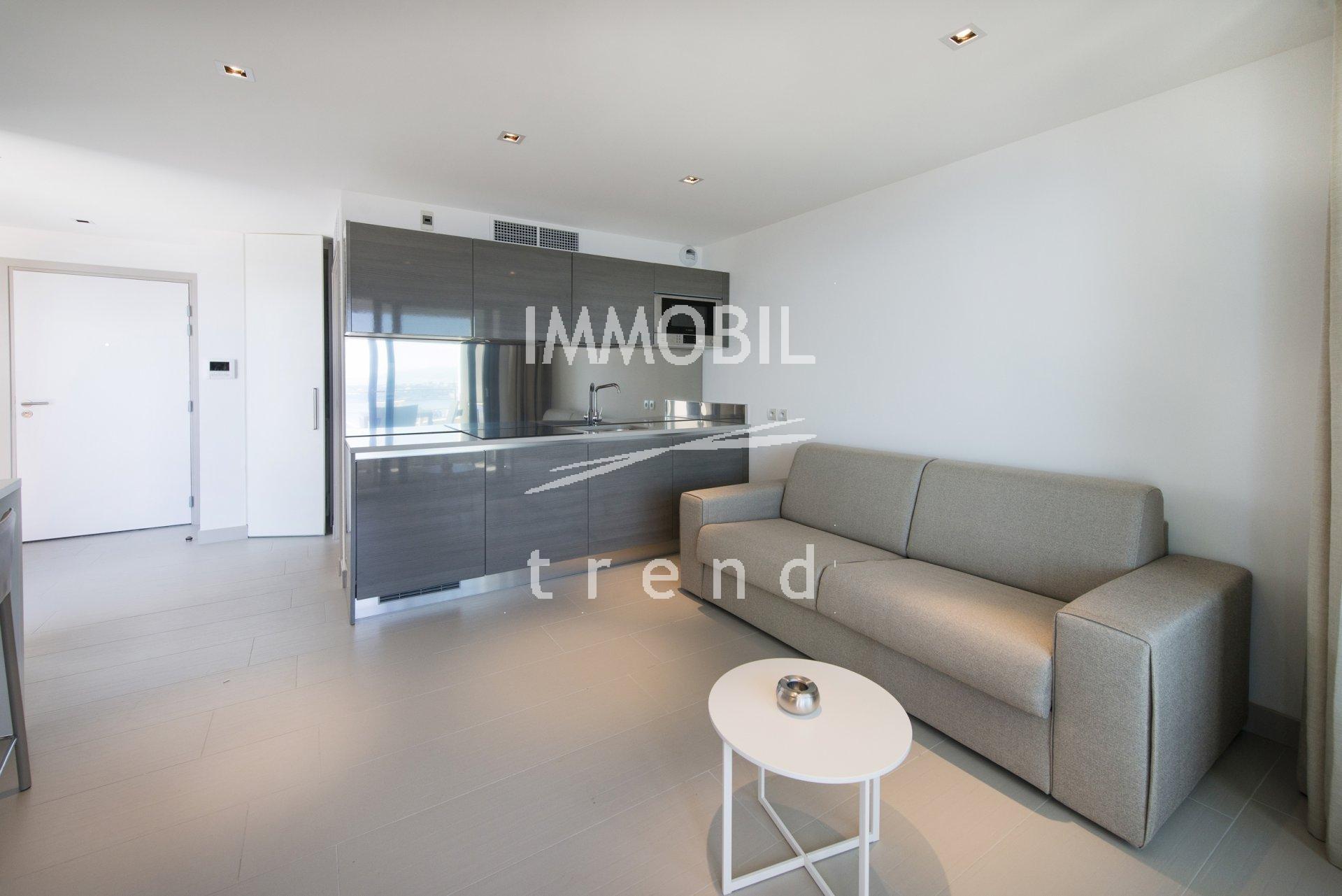 Immobiliare Beausoleil - Affitto, vicino a Monaco, monolocale con zona notte, vista mare e parcheggio