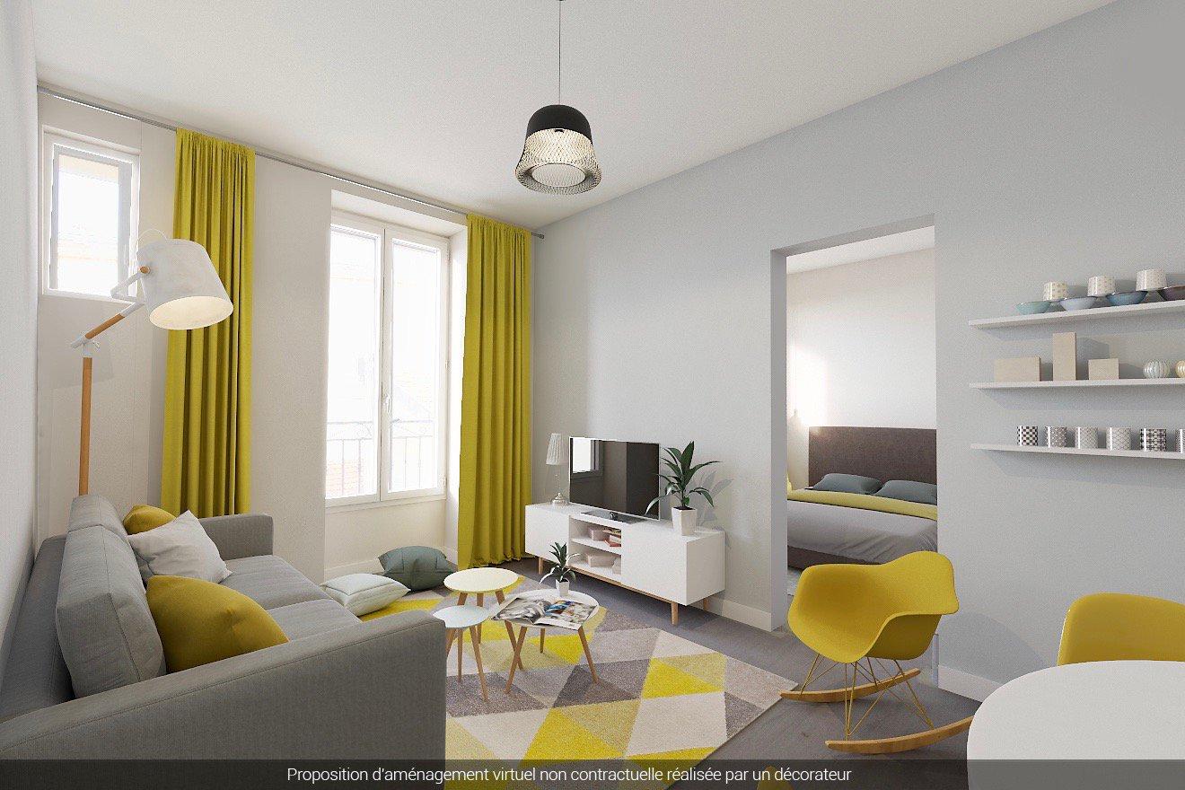 Nice Rue Caroline / Borriglione - One bedroom with garden