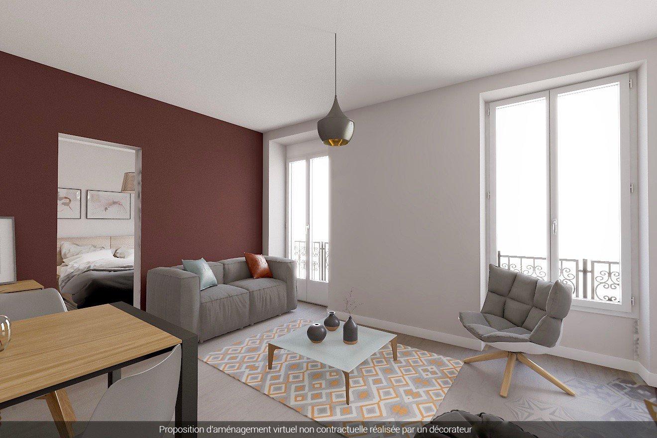 Nice Rue Caroline / Borriglione - 2 Pièces