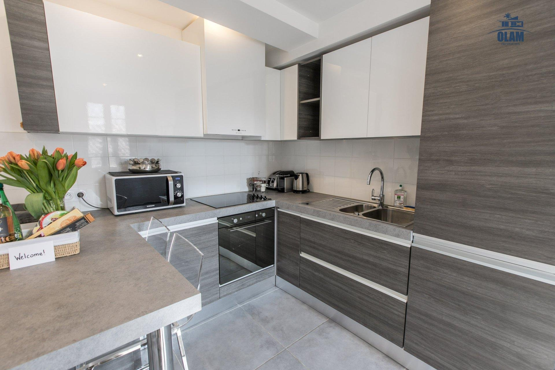 Bright and modern 1 BR , sleeps 4