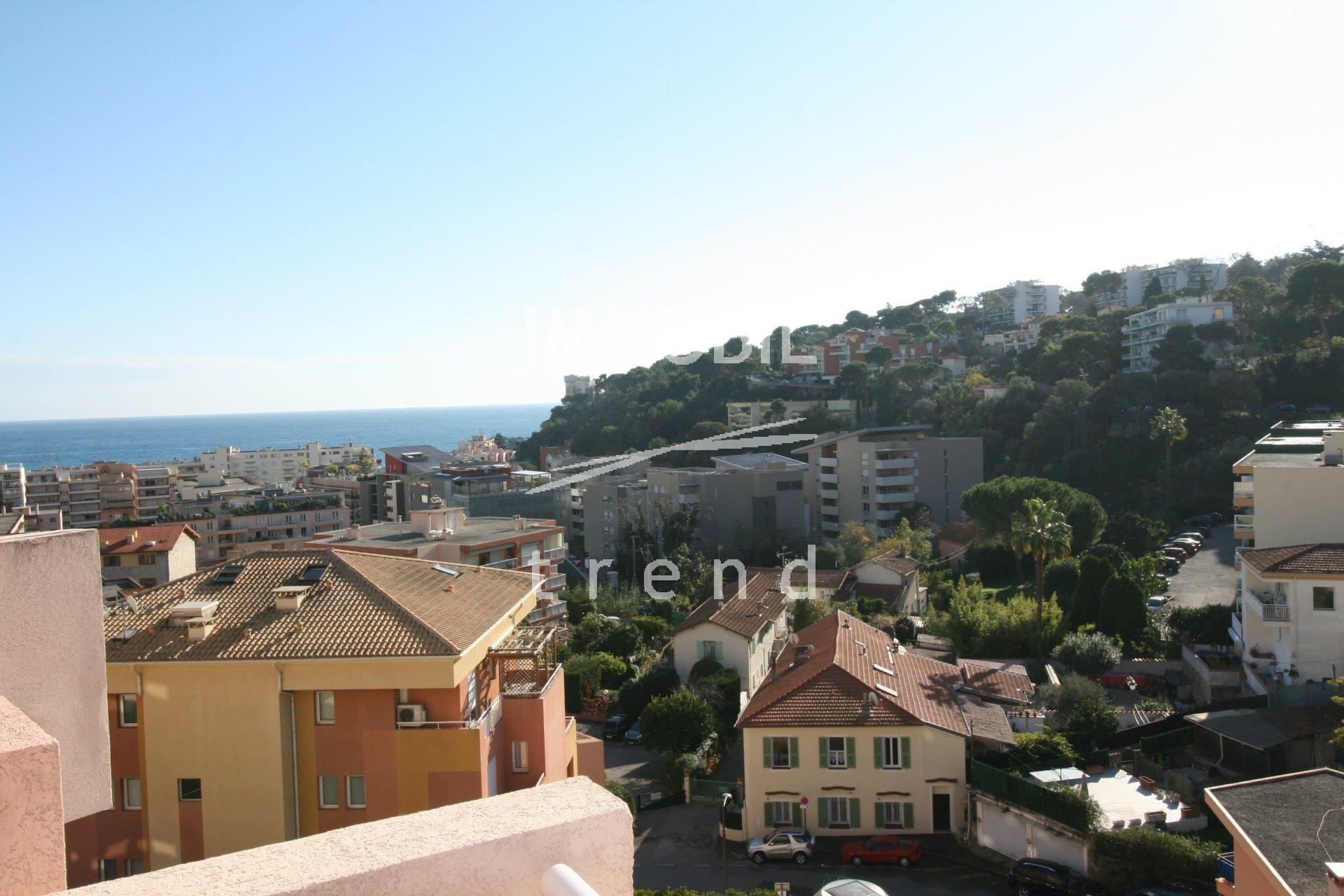 Roquebrune Cap Martin one room apartment View Sea