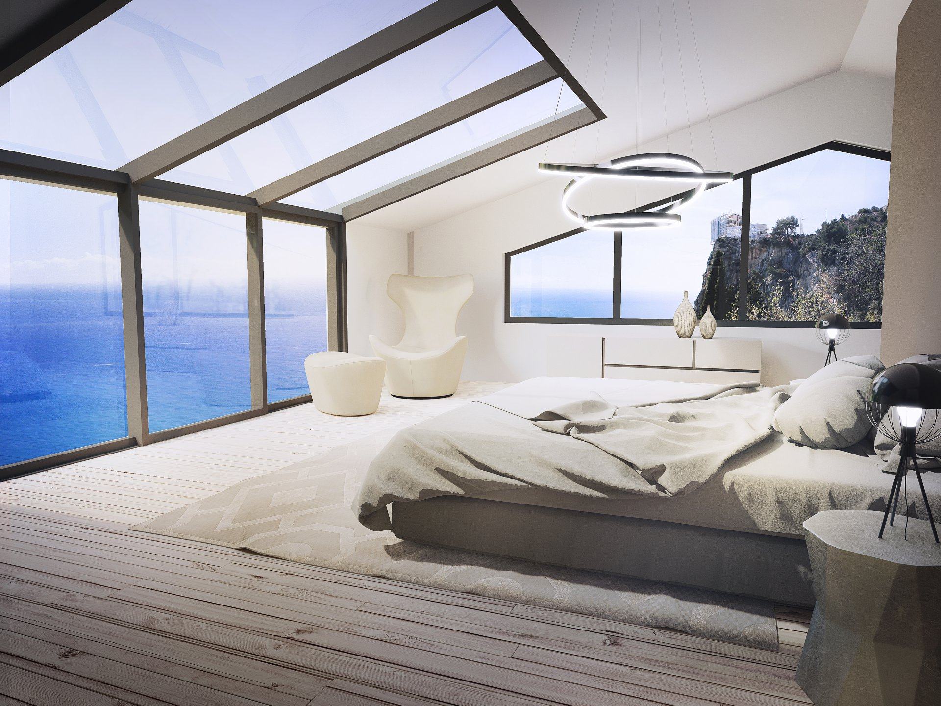 Bedroom seaview on the vista palace