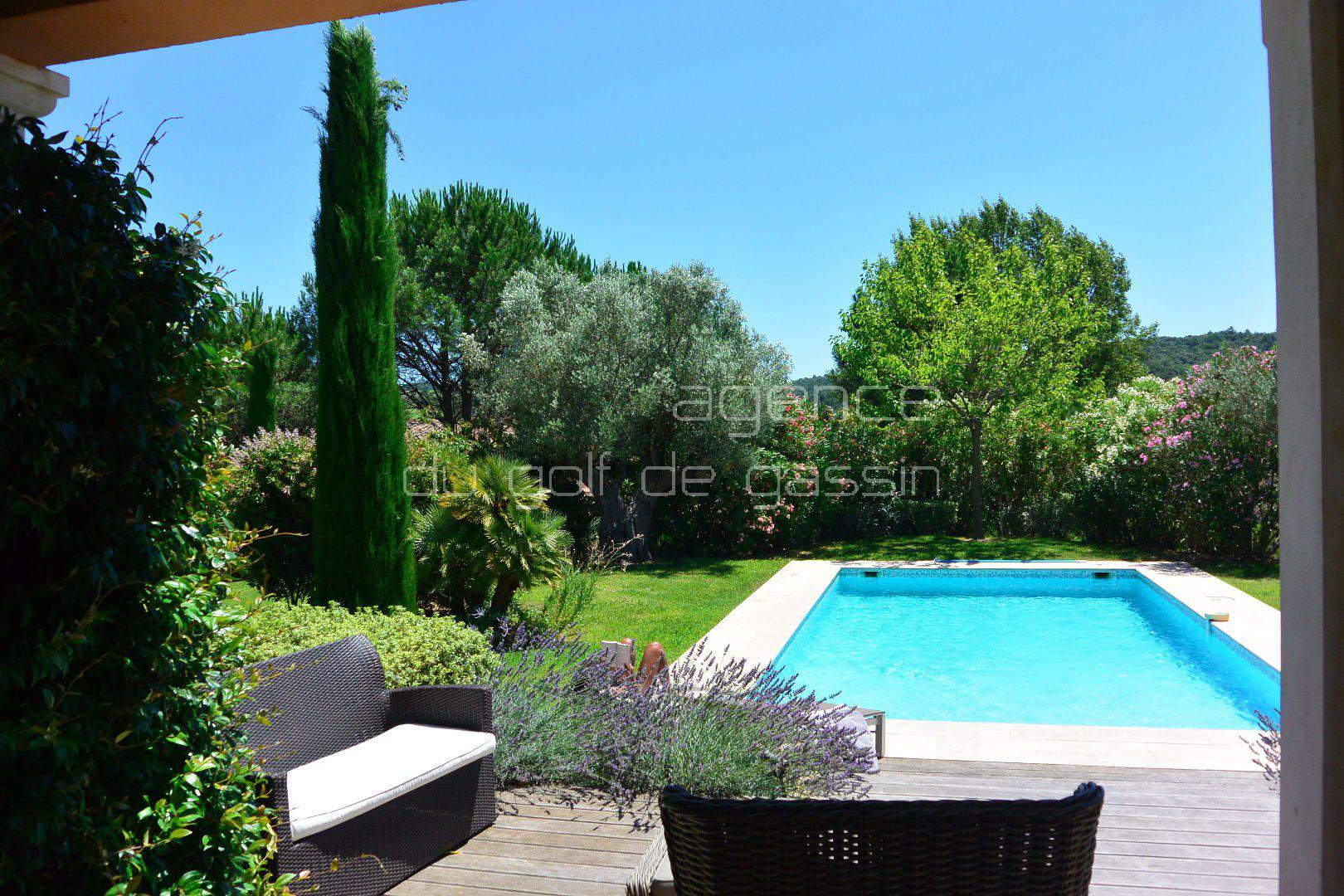 On the private domain of the Gulf of Saint-Tropez Gassin.