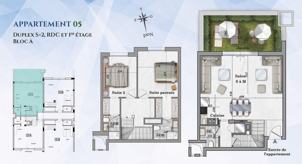 Duplex s+2 à hergla