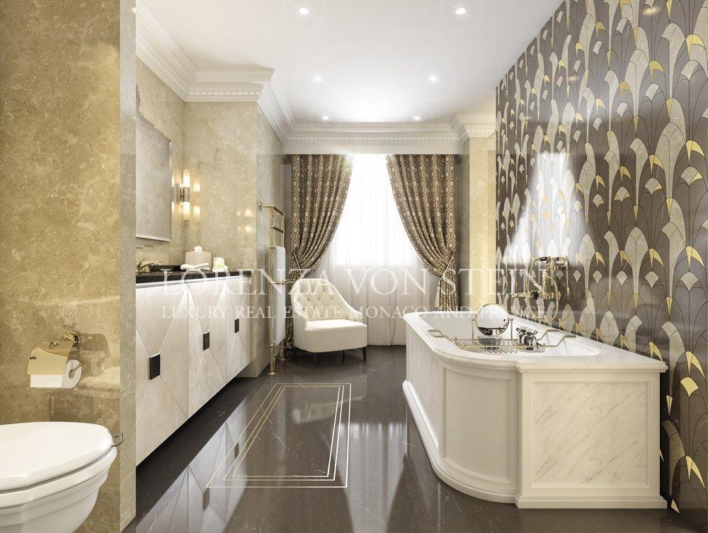 Bathroom, natural light, wood floors