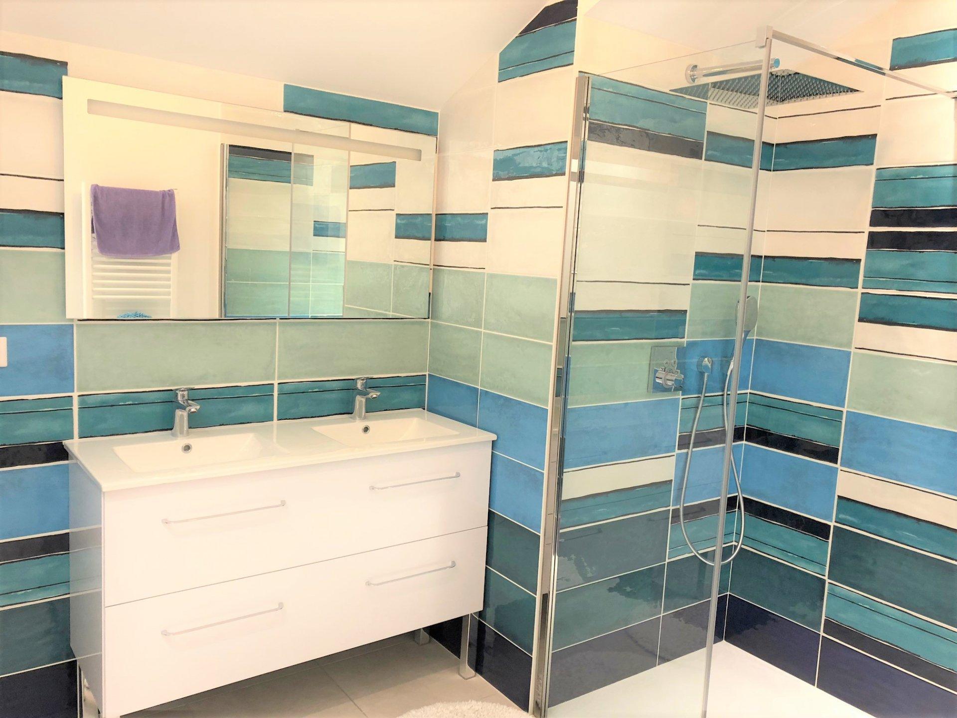 Salle de bains, carrelage