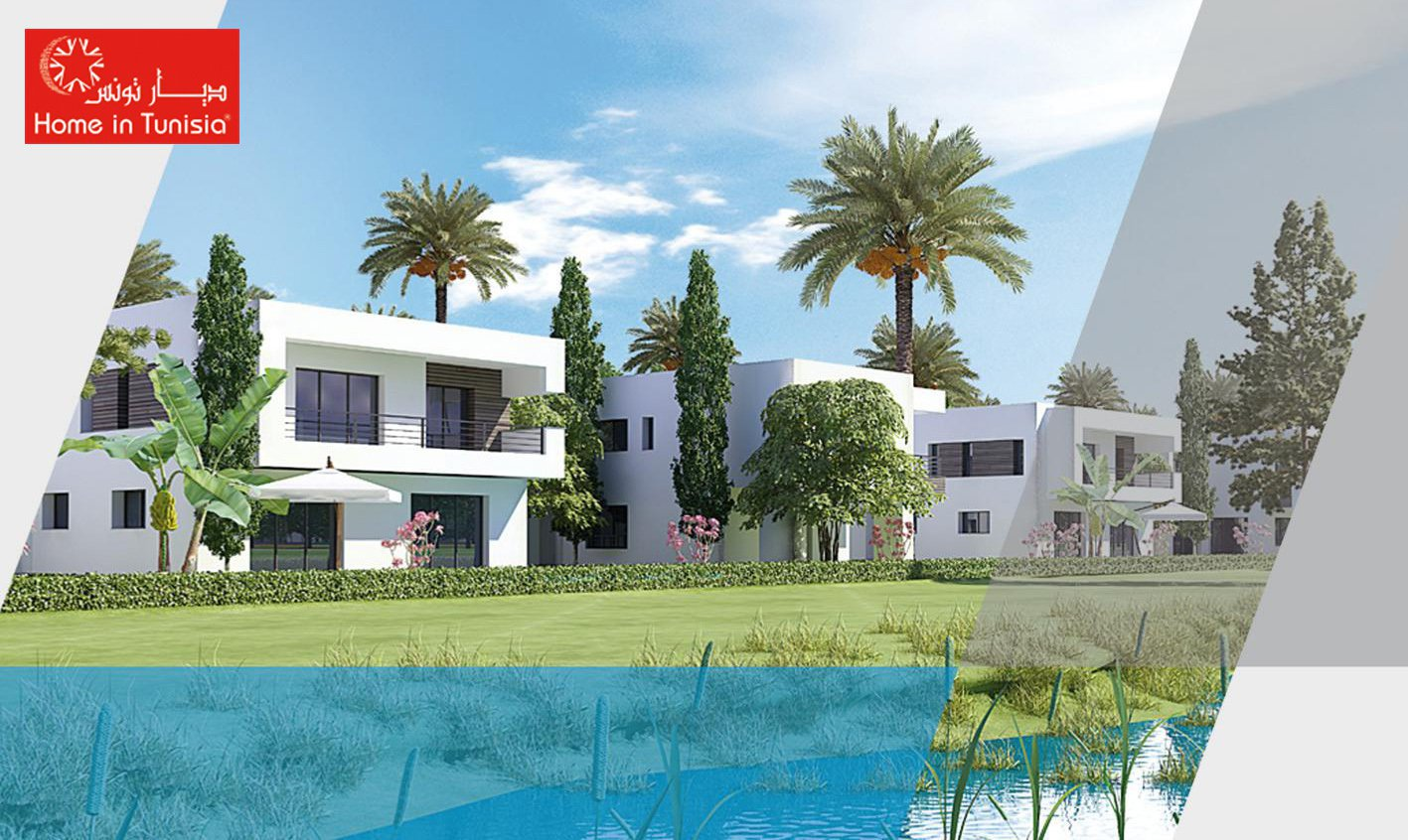 Tunis Bay residential golf villa Oceanos semi-detached 4 bedrooms terrace garden private pool
