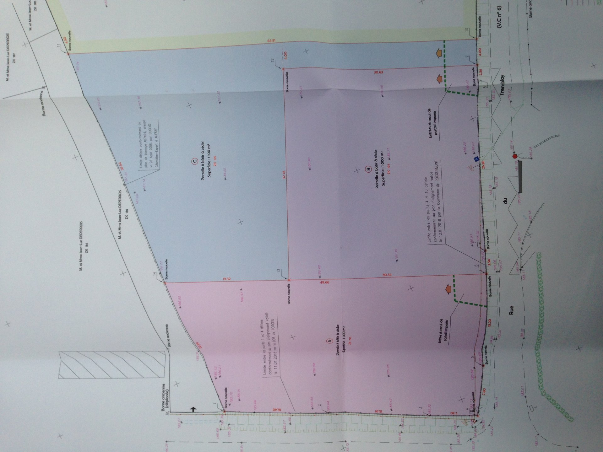 Sale Building land - Rocquemont
