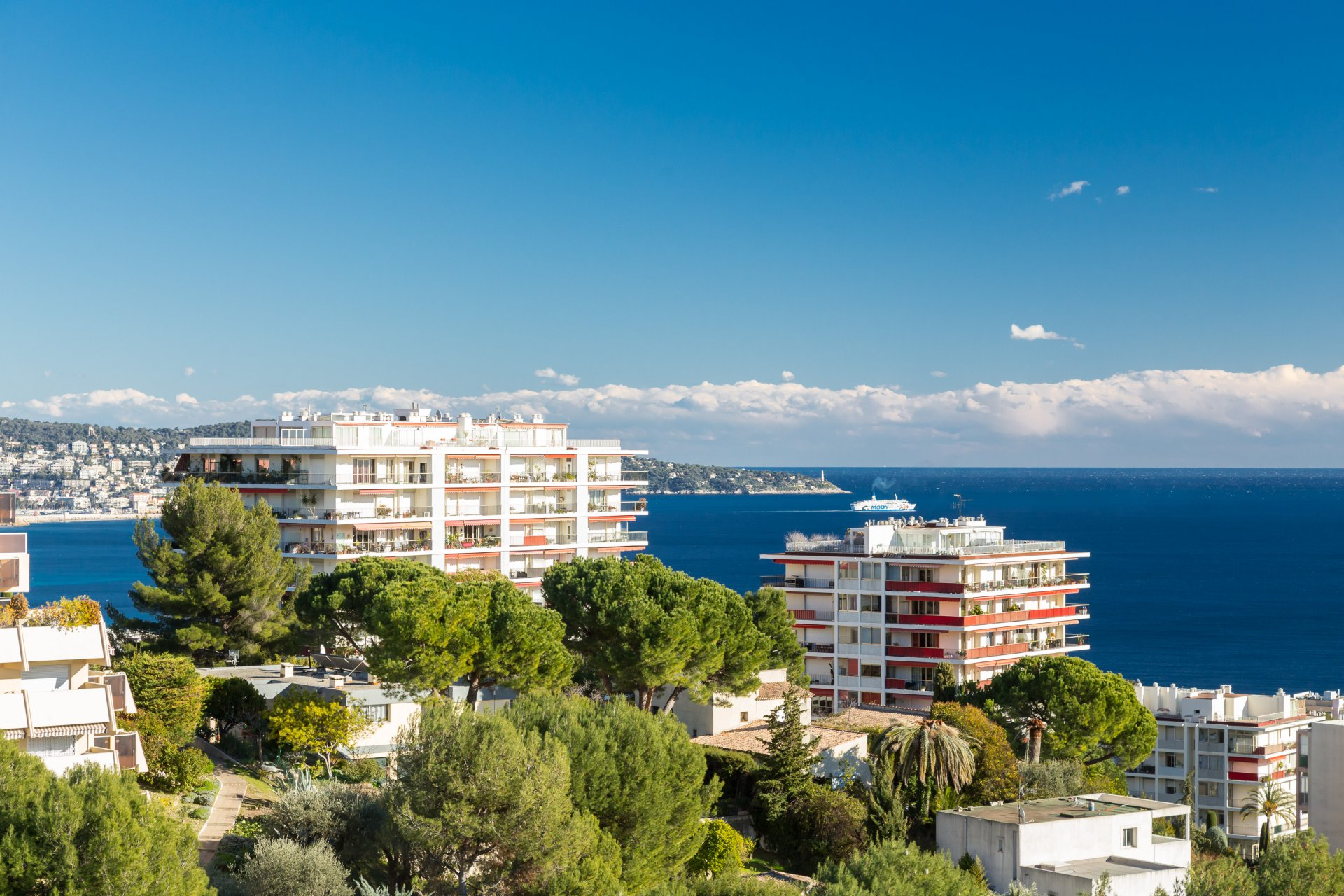 NICE OUEST / FABRON  - 3 Bedrooms - Terrace Sea View