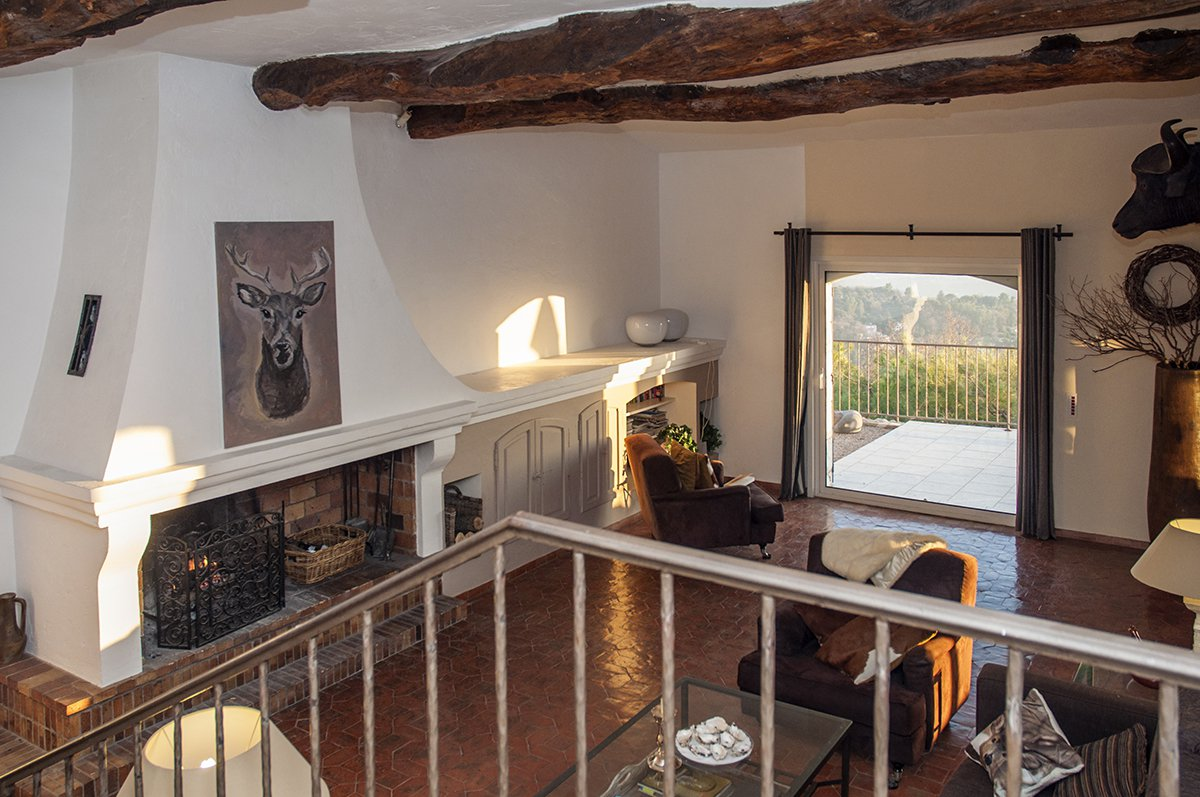 Old stone mas with panoramic views for sale - 5 bedrooms - Chateauneuf de Grasse