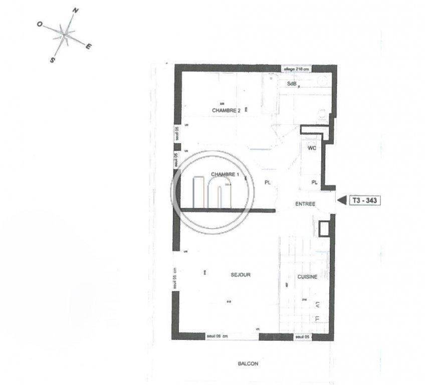 3 pièces meublé ou vide avec terrasse et parking