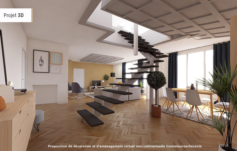 Appartement Esprit Loft en duplex rénové de 274m2