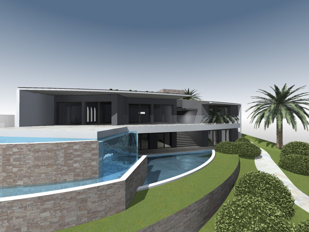 PROJECT OF CONTEMPORARY SEA VIEW VILLA  IN SAINT RAPHAEL