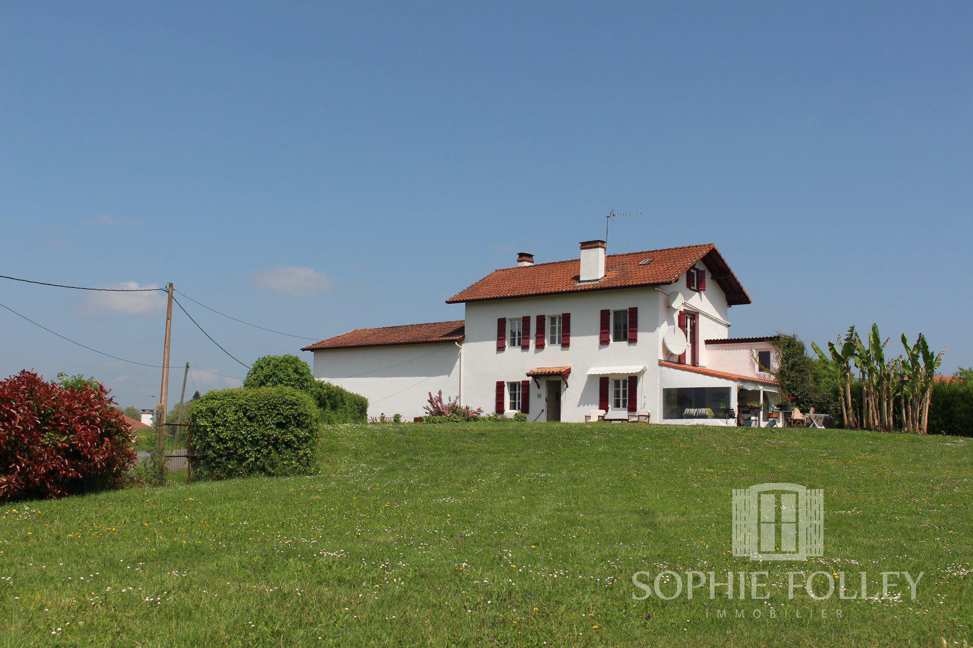 Near SAINT PALAIS - Pretty village house with garden and view of the mountains