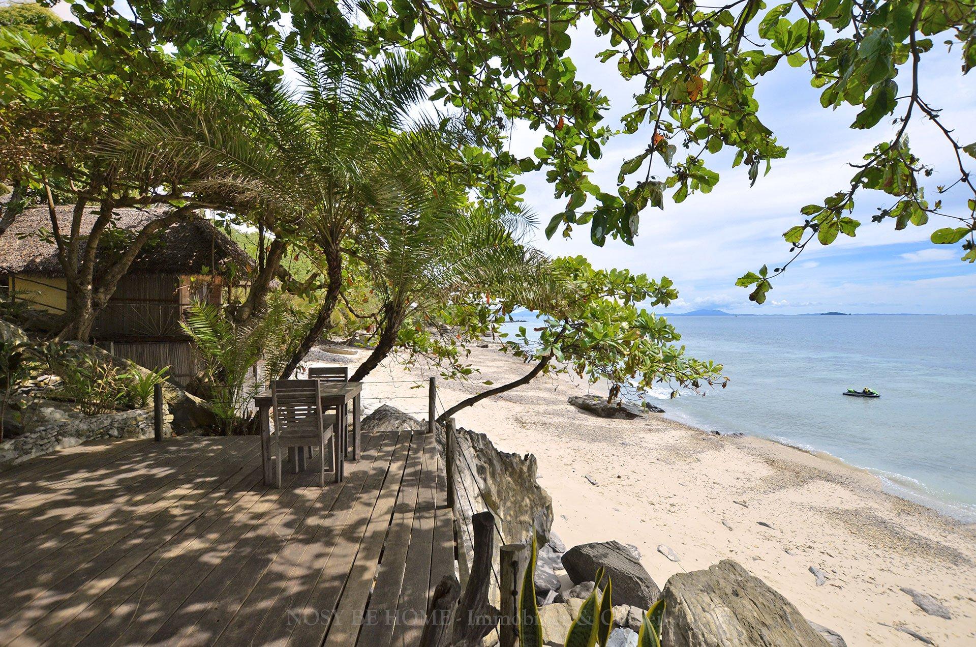 Lodge hôtelier sur plage