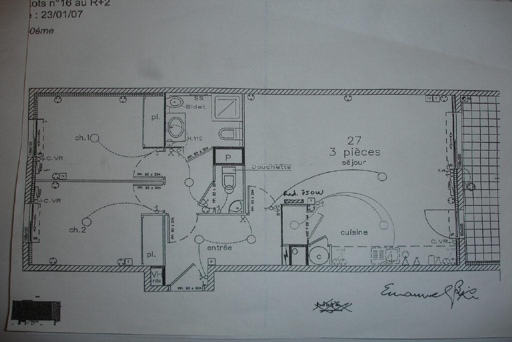 location Nice, 3 pièces 62.92m² situé secteur Riquier