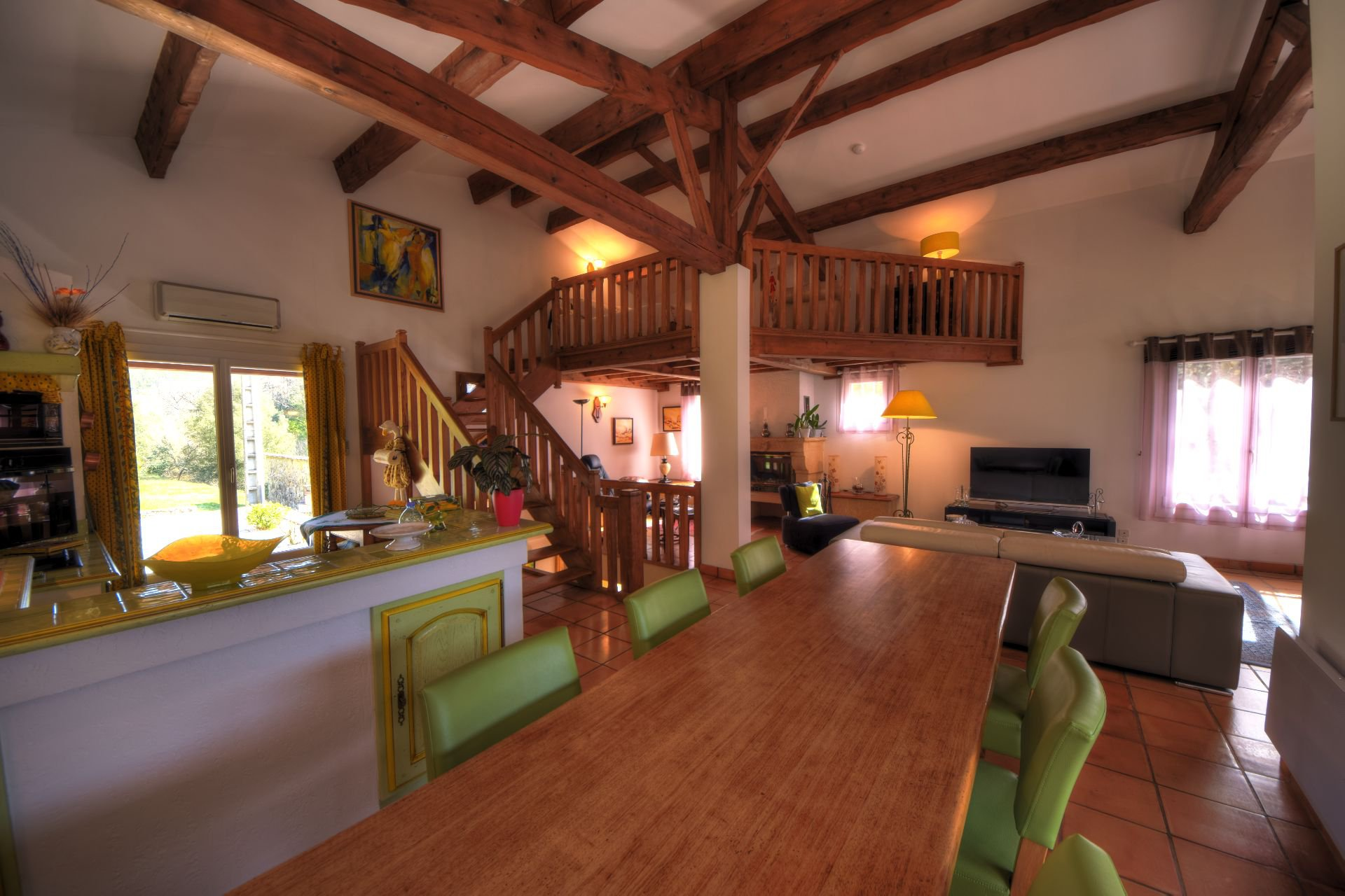 Living room of the small property of 4 ha, Barjols, Var, Provence