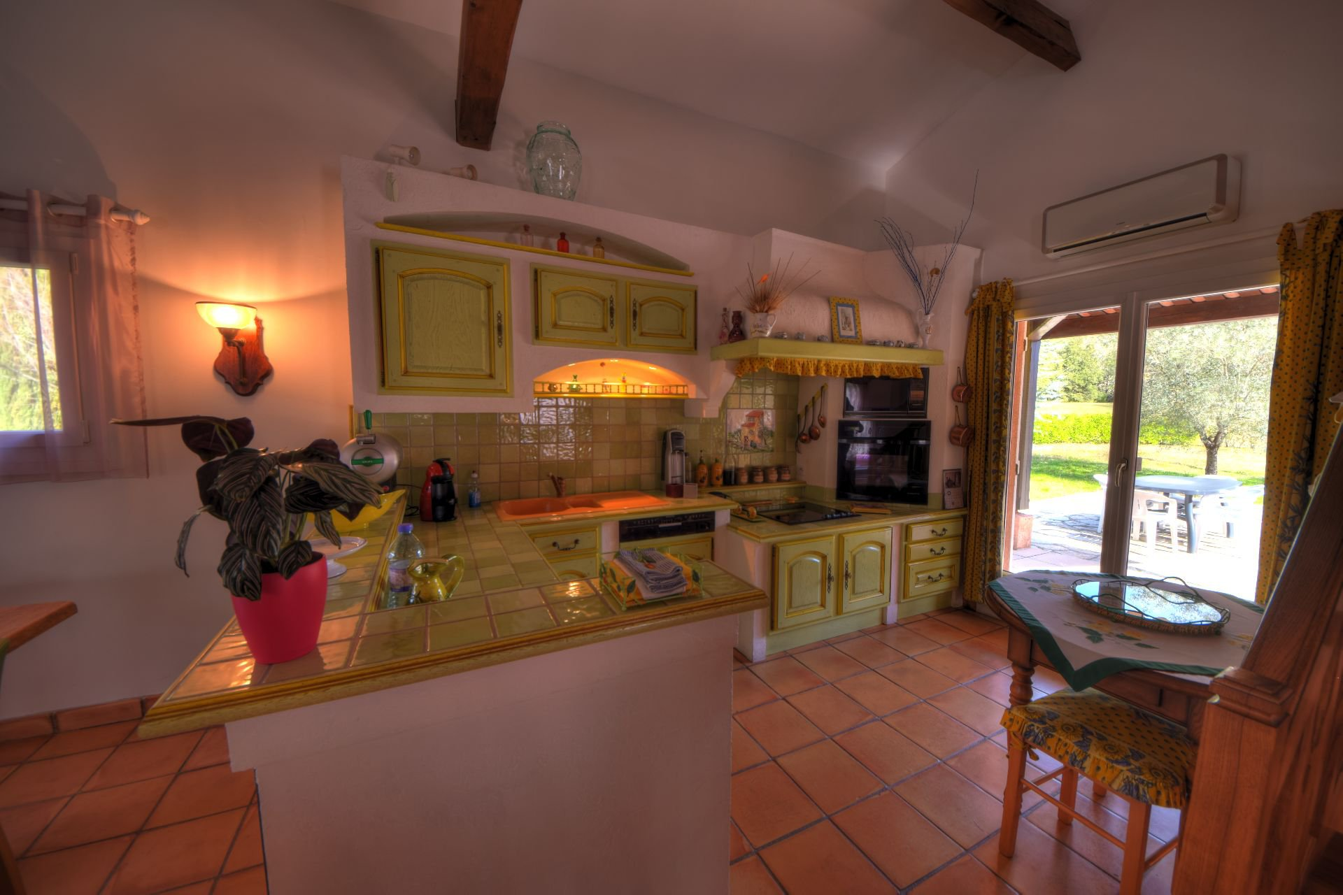 Kitchen of the small property of 4 ha, Barjols, Var, Provence