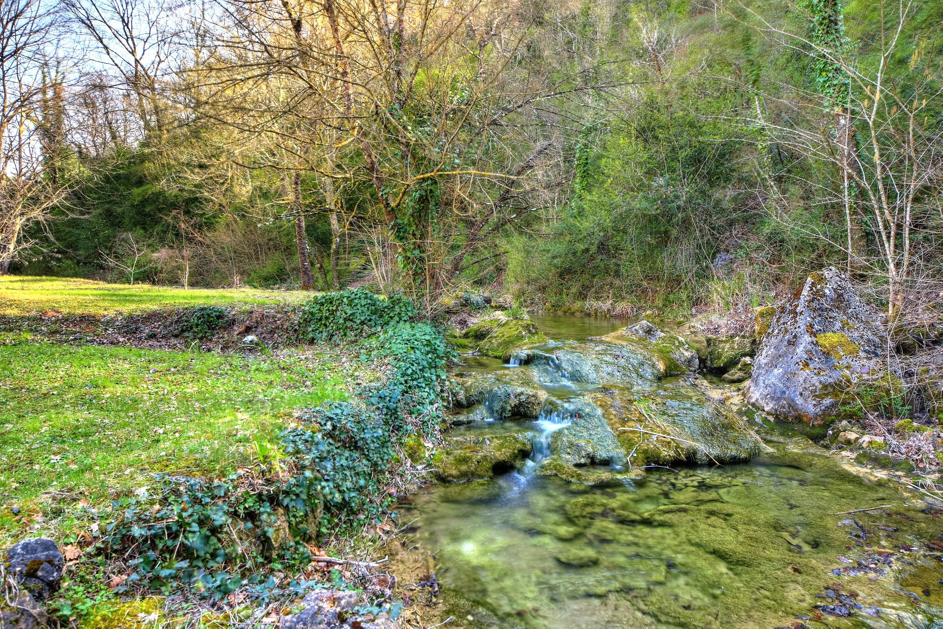 River on the small property of 4 ha, Barjols, Var, Provence