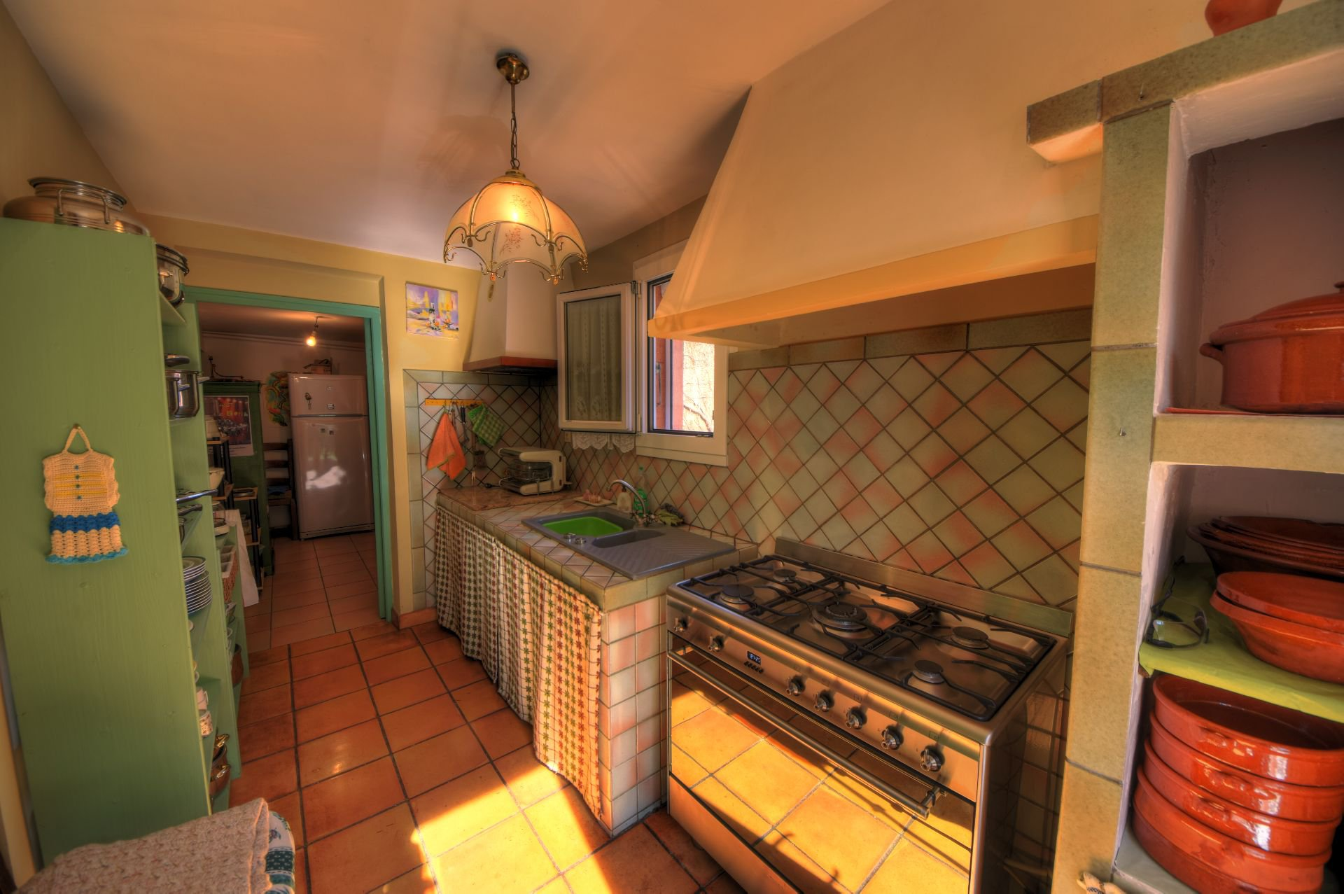 Second kitchen of the house of the small property of 4 ha, Barjols, Var, Provence