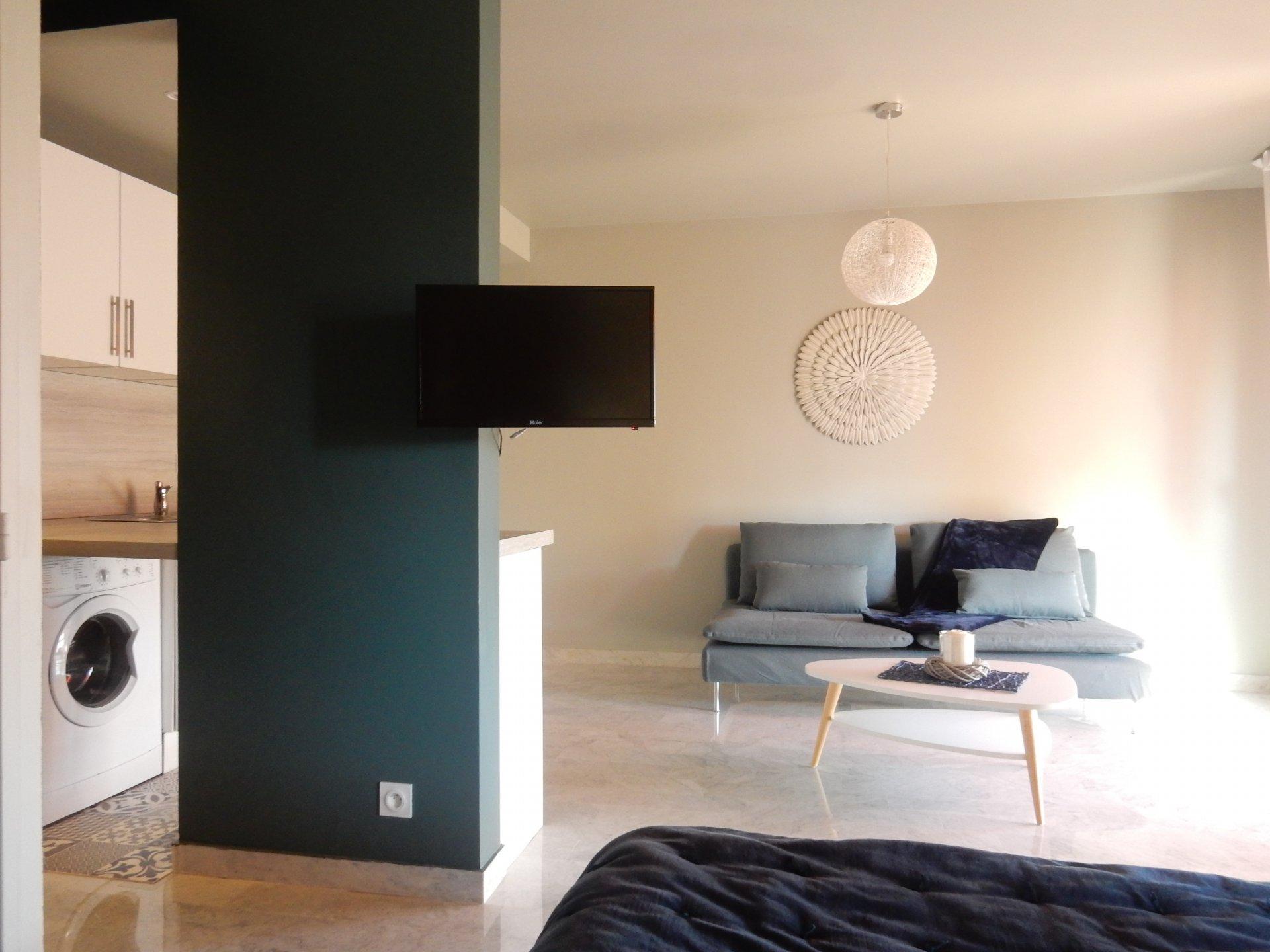 ocation Nice appartement 2 pièces meublé rénové quartier bas Sainte Marguerite proche promenade