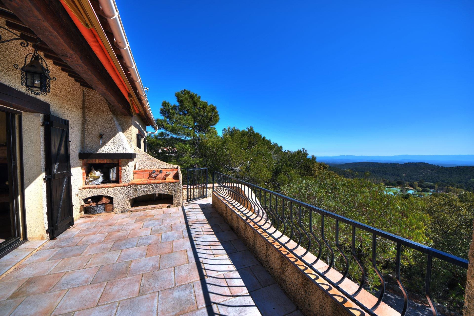 Villa 3 ch superb view St Pierre de Tourtour, Var, Provence