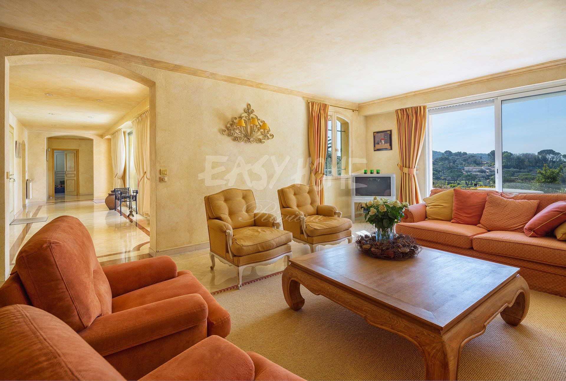HOUSE FOR SALE IN MOUGINS IN A GATED DOMAIN NEXT TO GOLF
