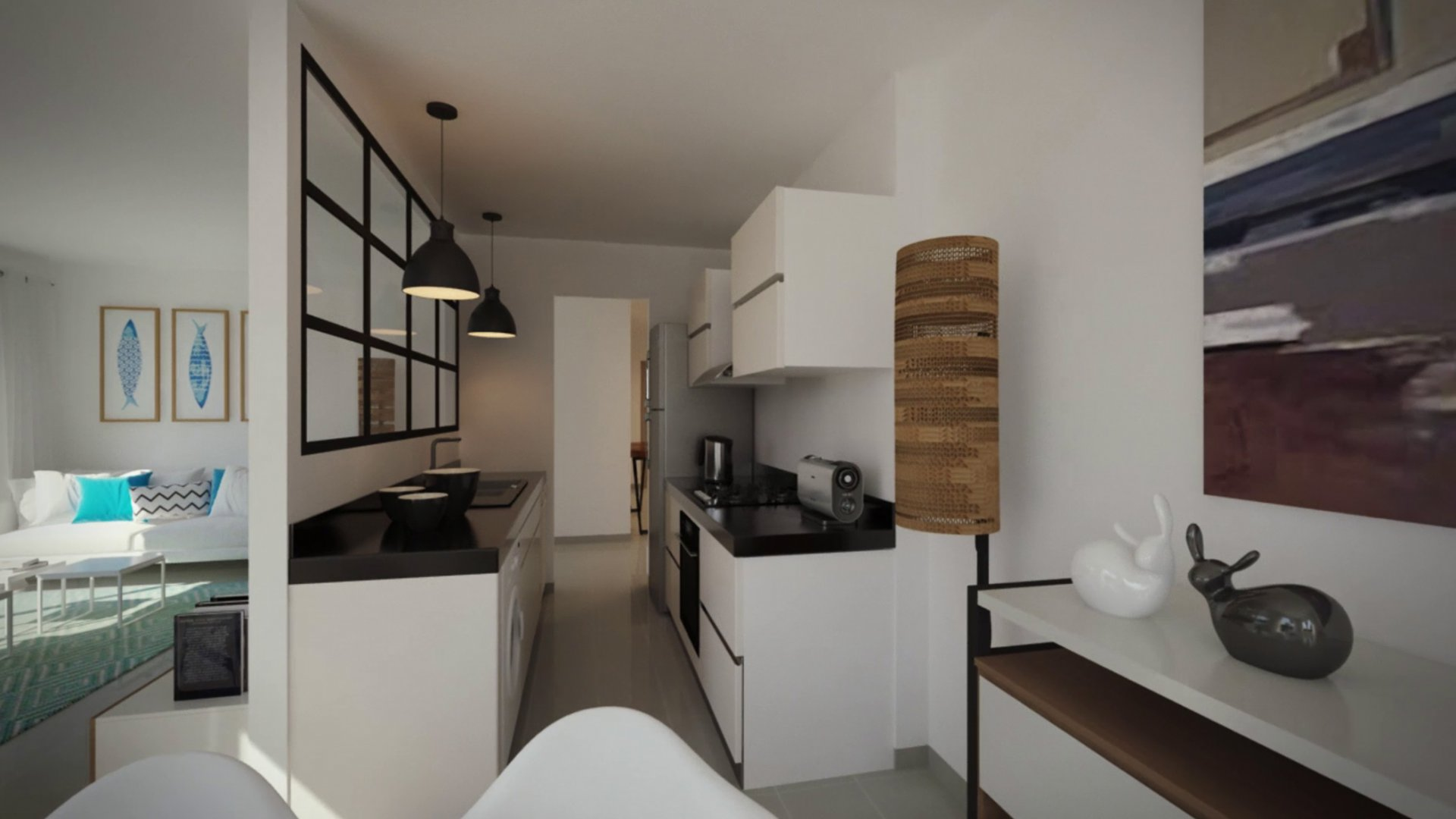 Appartement s+3 à hergla