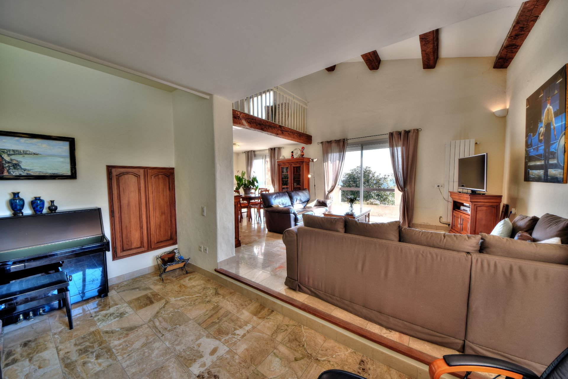Living room of the villa 328 m² panoramic view, Draguignan, Var, Provence